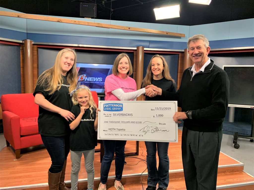SILBERBACKKS receiving 1,000 check