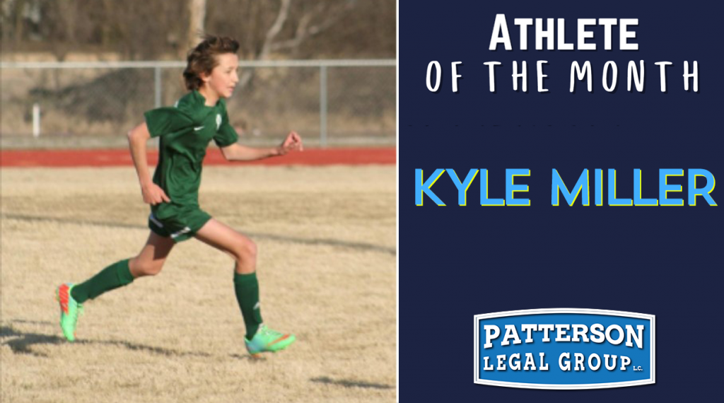 Kyle Miller - Patterson Gives Back student athlete of the month.